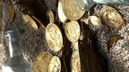 Gold coins brought up from the SS Republic by Odyssey Marine Exploration