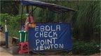 An Ebola checkpoint