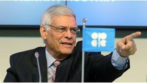 Secretary General of OPEC Abdalla Salem El-Badri of Libya