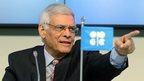 Secretary General of OPEC Abdalla Salem El-Badri of Libya
