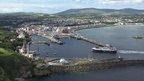 Isle of Man aerial view