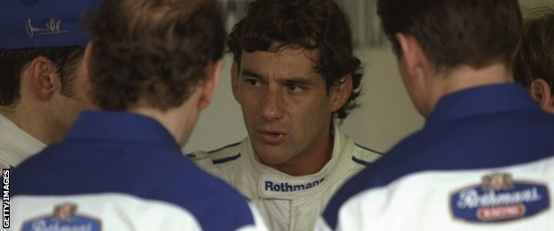 Ayrton Senna at the Brazilian Grand Prix in Interlagos, 1994