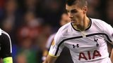 Spurs' Erik Lamela against Partizan Belgrade