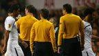 Pitch invaders halt Tottenham game