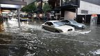 Flooded street in Brisbane. 27 Nov 2014