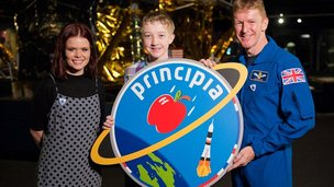 Lindsey Russell, Troy and Tim Peake