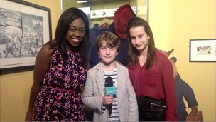 Ayshah with Samuel Joslin and Madeleine Harris