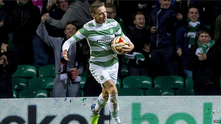 Stefan Johansen pulled one back for Celtic against Salzburg.