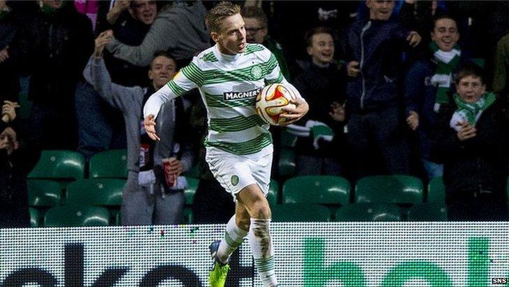 Stefan Johansen pulled one back for Celtic against Salzburg.