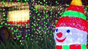 World's biggest Christmas lights display