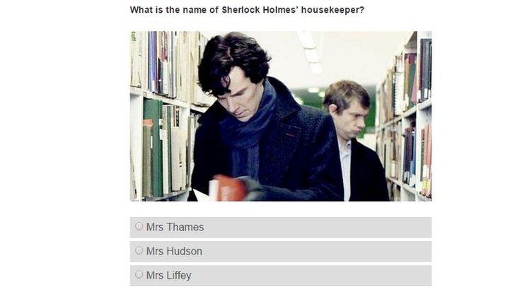 Sherlock Holmes in book quiz