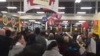 Crowds at Stretford Tesco