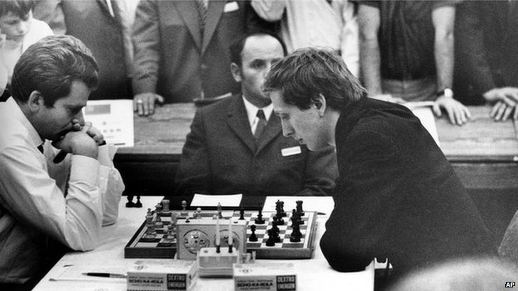 Bobby Fischer playing Boris Spassky, 1970