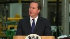 David Cameron speaking in the West Midlands