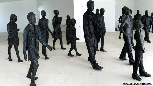 Statues in Jason Taylor's Lanzarote studio