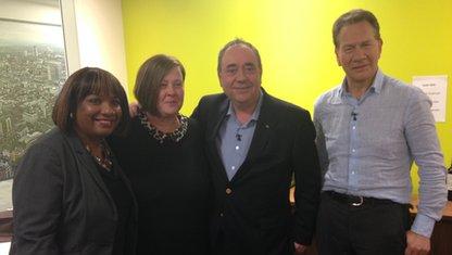 Diane Abbott, Dee Kelly, Alex Salmond and Michael Portillo