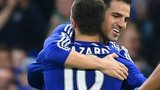Cesc Fabregas and Eden Hazard