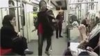 Dancing woman on Tehran Metro