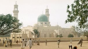 Undated (c1975) image of the Great Mosque of Kano, in Nigeria. Muslim Islam Islamic Africa African