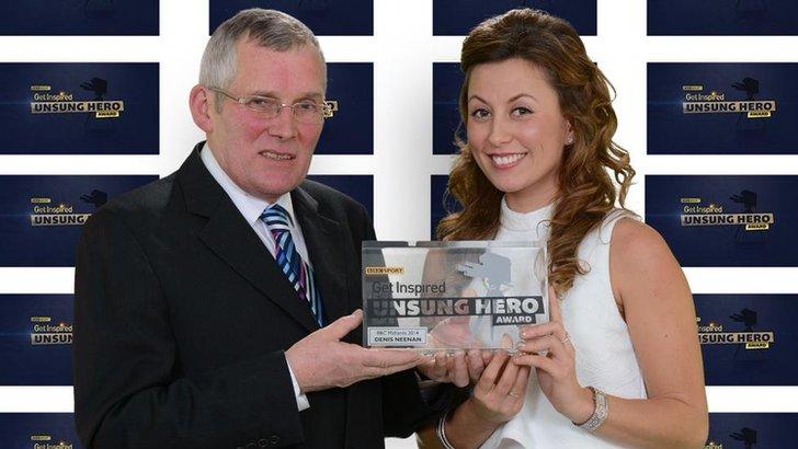 David Neenan presented with BBC Unsung Hero Award