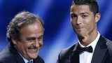 Cristiano Ronaldo and Michel Platini - Ballon d'Or