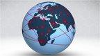 Tracks on globe show how HIV spread