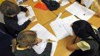 primary school pupils in classroom