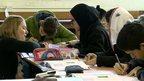 Kainat Riaz and Shazia Ramzan studying