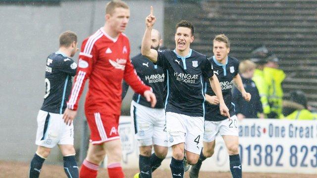Thomas Konrad has scored at both ends at Dens Park