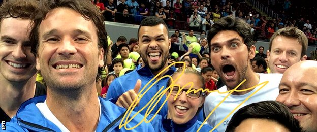 Andy Murray, Carlos Moya, Jo-Wilfried Tsonga, Kirsten Flipkens, Mark Philippoussis, Daniel nestor