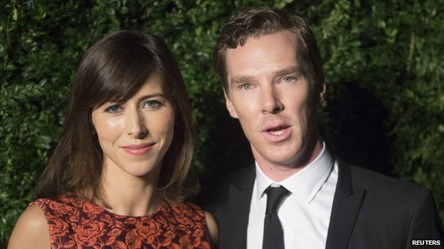 Benedict Cumberbatch attended the awards with his fiancee Sophie Hunter