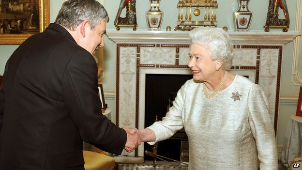 Gordon Brown and the Queen