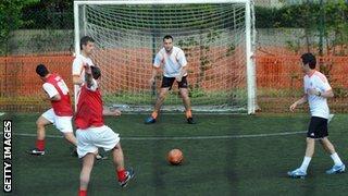 A five-a-side match