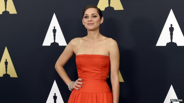 Actress Marion Cotillard appeared in Los Angeles, California, on 8 November 2014