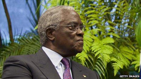 Sao Tome's president, Manuel Pinto da Costa