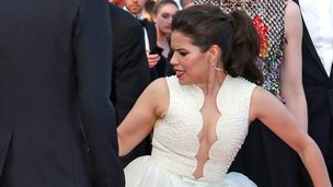 Benoit Tessier captures a moment that left actress America Ferrera red faced