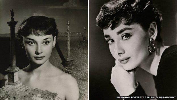 Audrey Hepburn by Angus McBean (1950) and Bud Fraker (1954)