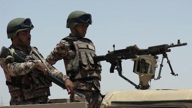 Jordanian border troops