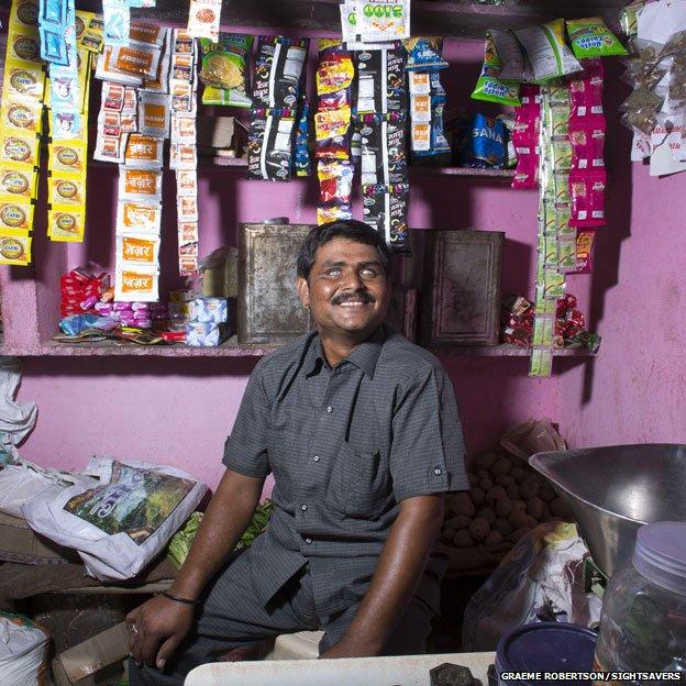 Shankarlal Sansi in his shop