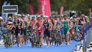 Competitive triathlon