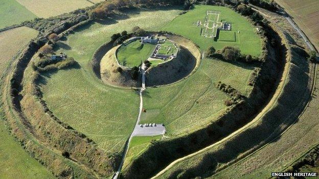 Old Sarum Salisbury Wiltshire Revealed at last
