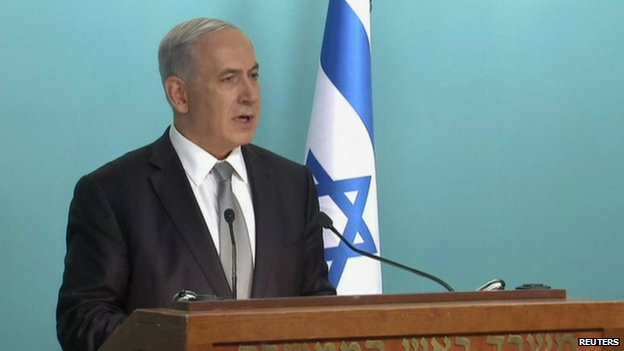 Israeli Prime Minister Benjamin Netanyahu gives a news conference following his firing of two senior cabinet ministers, setting the stage for a possible announcement of early elections.