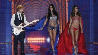 BBC - Newsbeat - Was Ed Sheeran's Victoria's Secret gig his toughest ever?