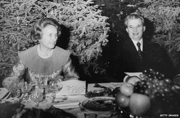 Ceausescu and his wife
