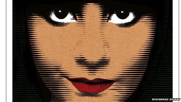 Illustration of Lujain Al-Hathloul by Mohammad Sharaf
