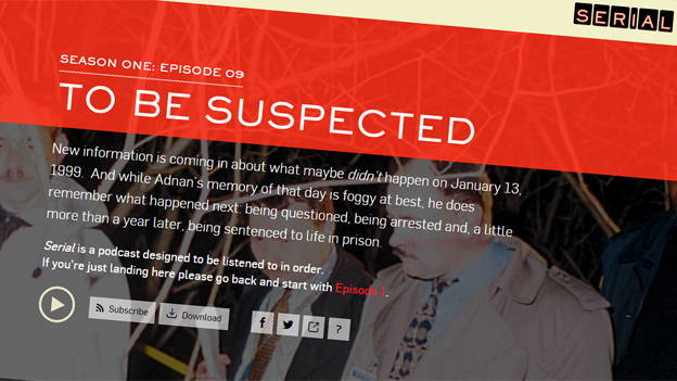 Serial website screengrab