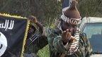 Boko Haram leader Abubakar Shekau with fighters. 31 October 2014