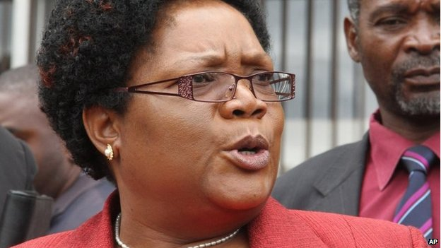 Joice Mujuru pictured in 2012