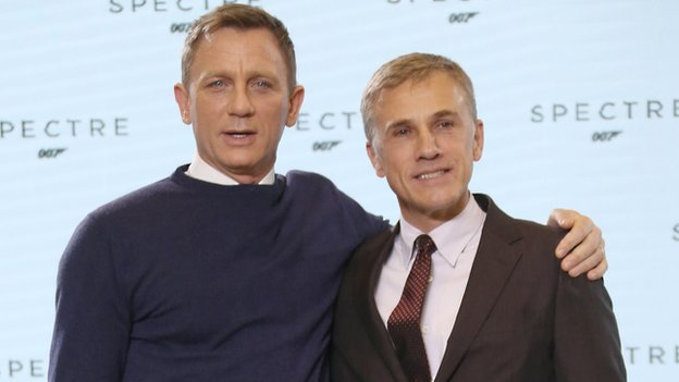 Daniel Craig and Christoph Waltz