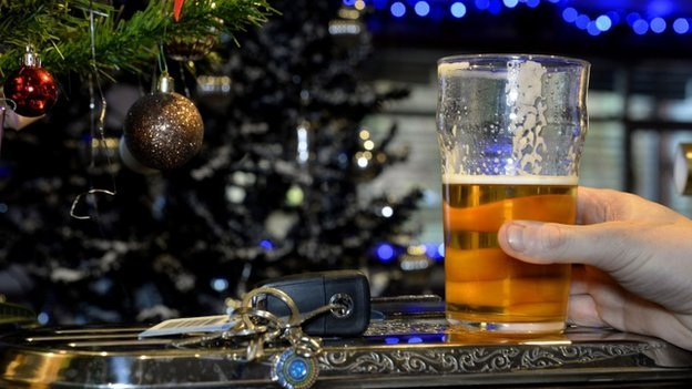 pint of lager and car keys
